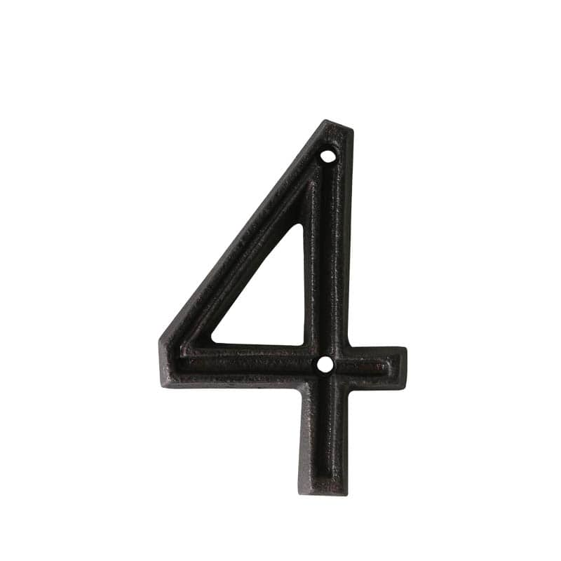 "METAL LETTER ""4"" MATT BLACK"