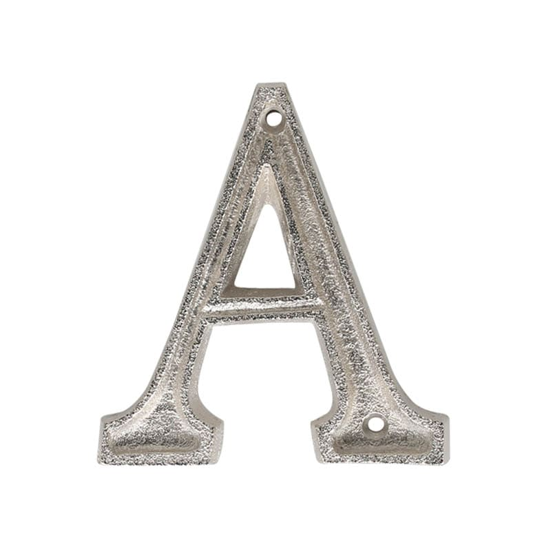 "METAL LETTER 105 SILVER ""A"""