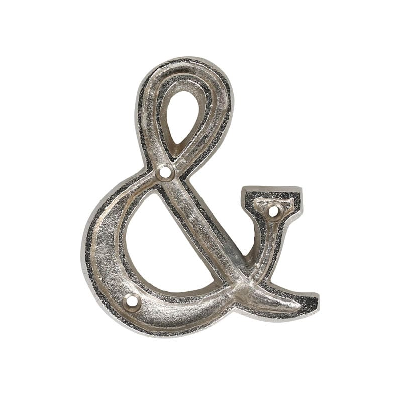 "METAL LETTER 105 SILVER ""&"""