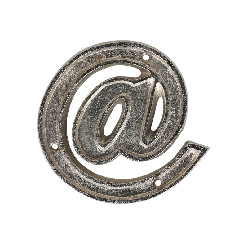 "METAL LETTER 105 SILVER ""@"""