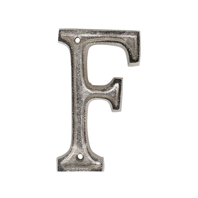 "METAL LETTER 105 SILVER ""F"""