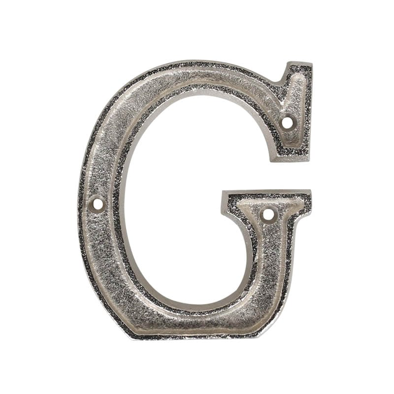"METAL LETTER 105 SILVER ""G"""
