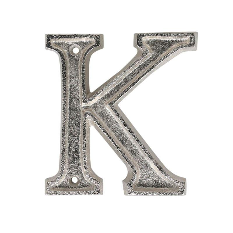 "METAL LETTER 105 SILVER ""K"""
