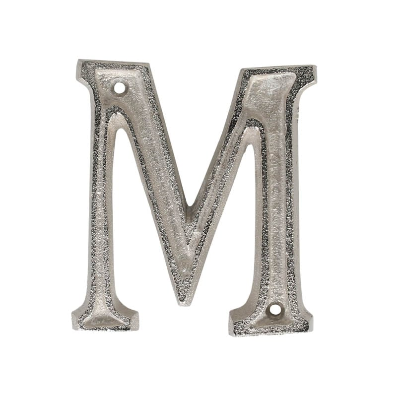 "METAL LETTER 105 SILVER ""M"""