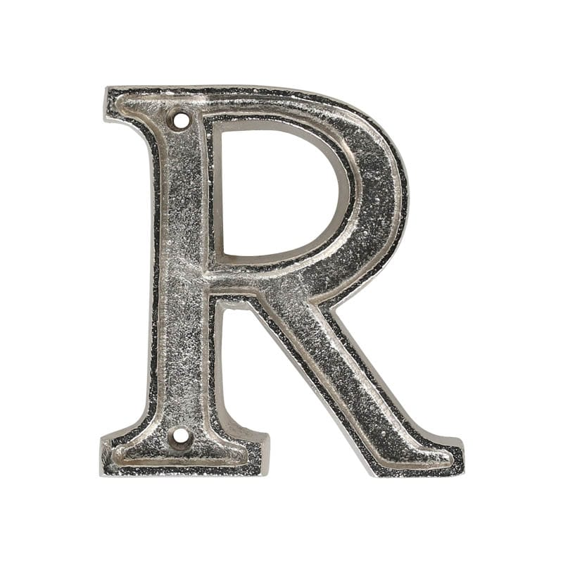 """METAL LETTER 105 SILVER """"R"""""""