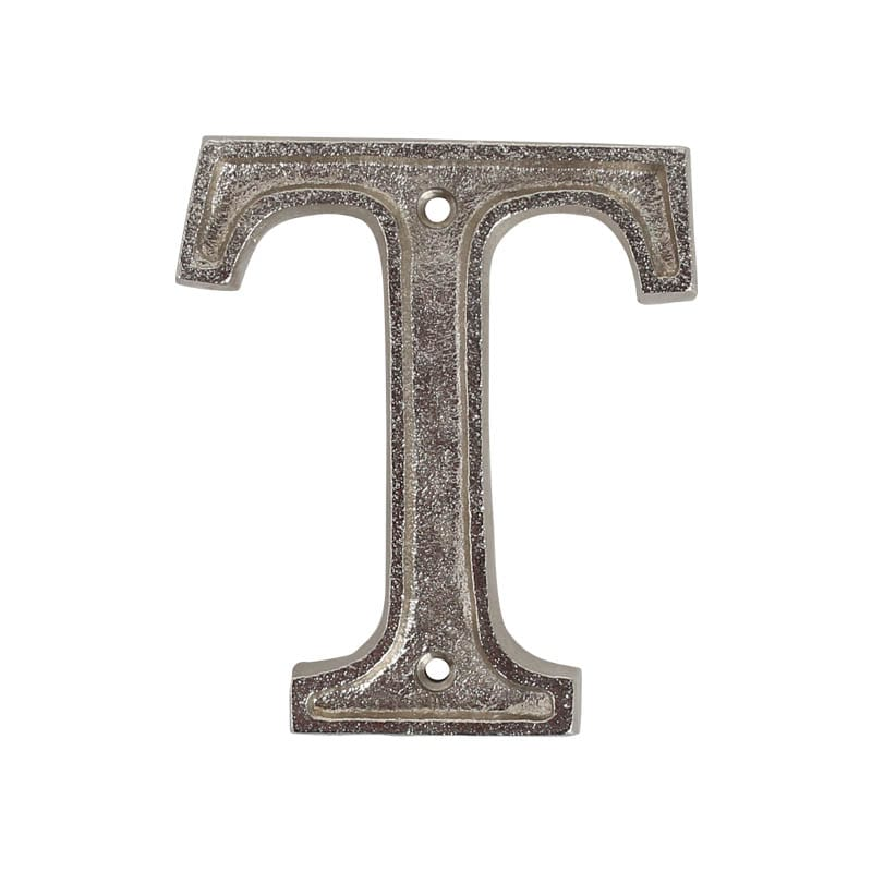 """METAL LETTER 105 SILVER """"T"""""""