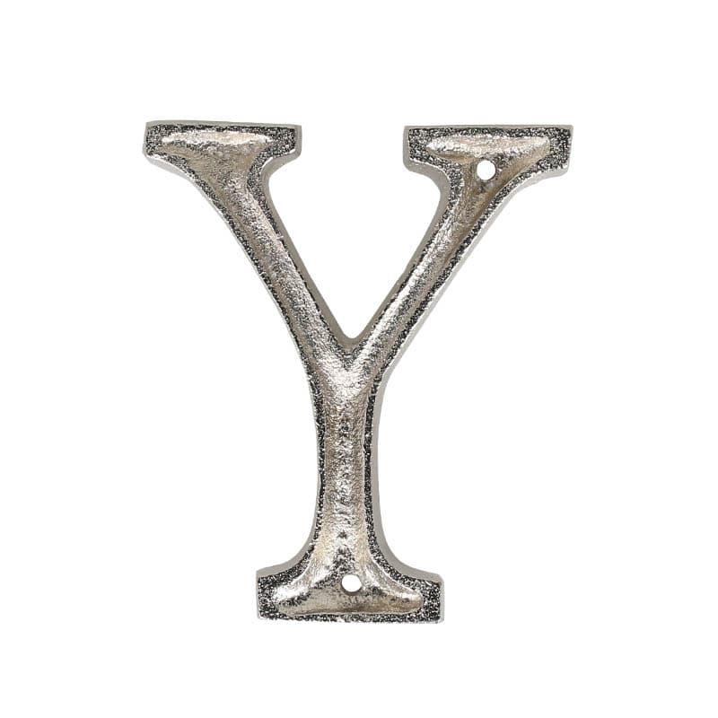 "METAL LETTER 105 SILVER ""Y"""