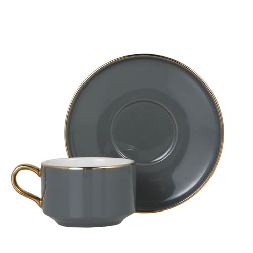 CUP & SAUCER Numelo 1 GRAY