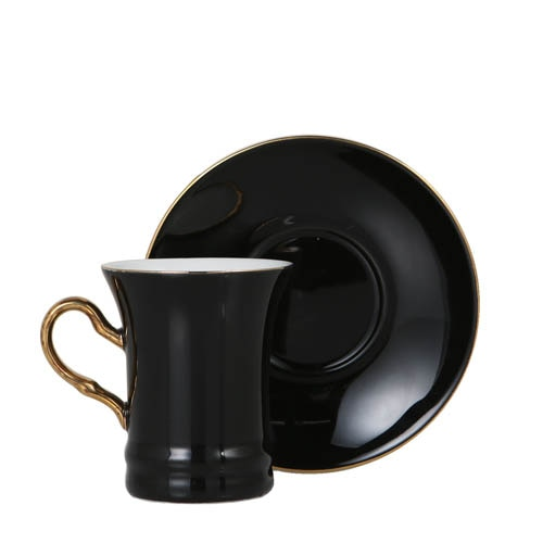 CUP & SAUCER Numelo 2 BLK
