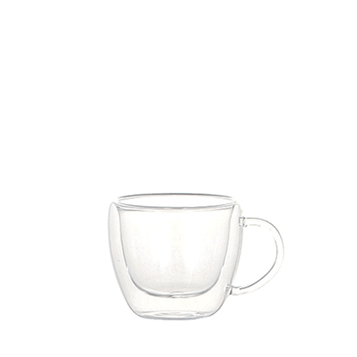 DOUBLE WALL GLASS CUP ESPRESSO