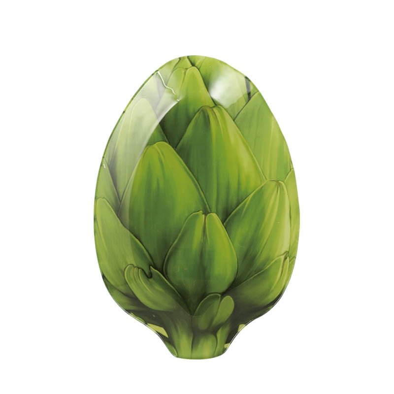 GLASS FARMER PLATE ARTICHOKE