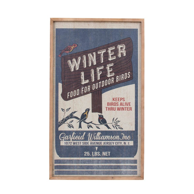 ART FRAME L ''WINTER LIFE''