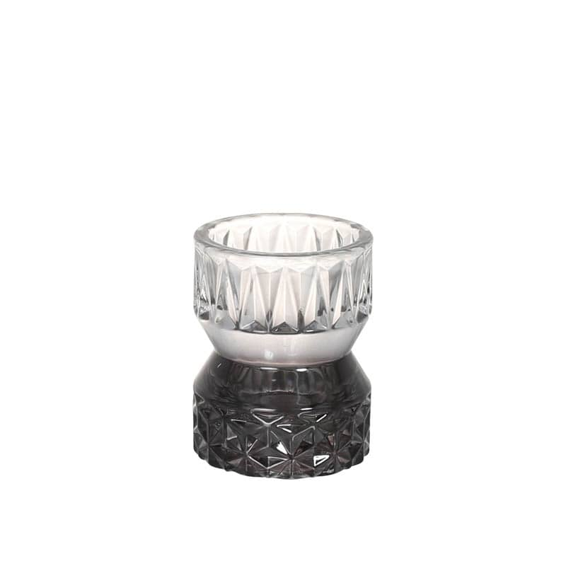 GLASS CANDLE HOLDER BLACK