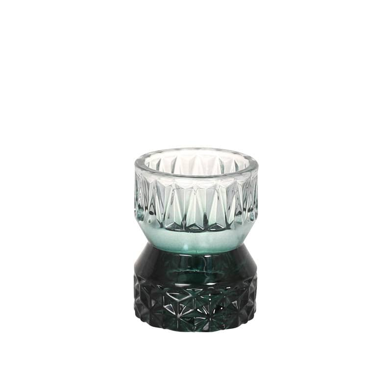 GLASS CANDLE HOLDER EMERALD