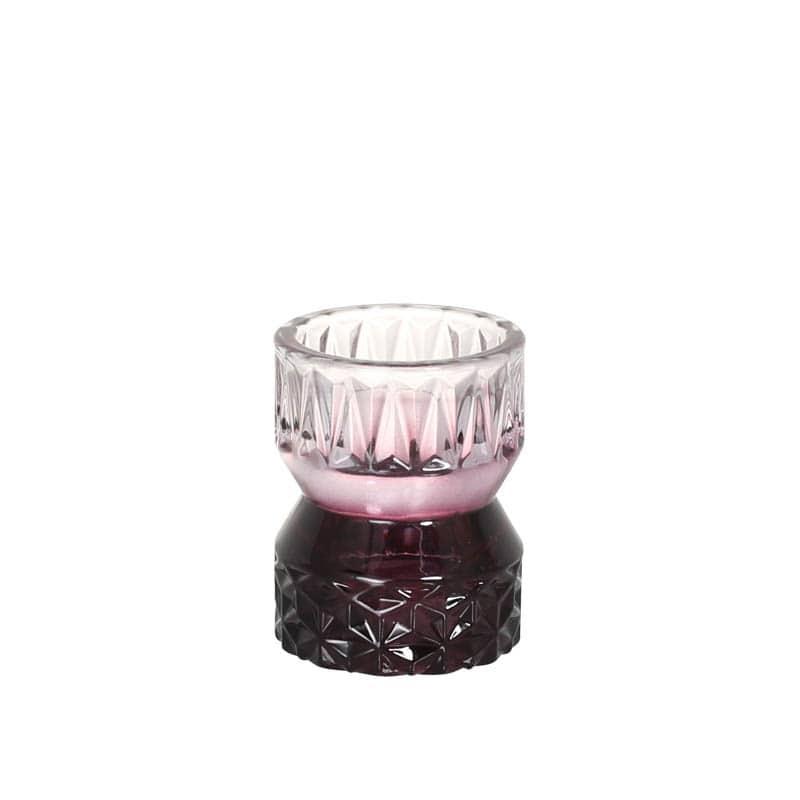 GLASS CANDLE HOLDER VIOLET