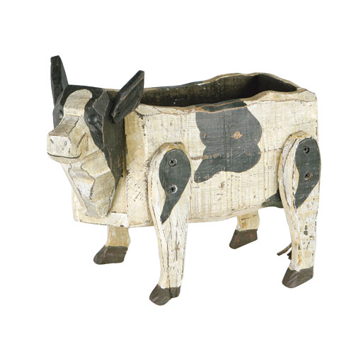 WOODEN COW BOX