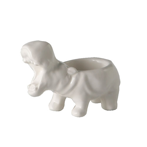 HIPPO TEA LIGHT HOLDER  WHITE