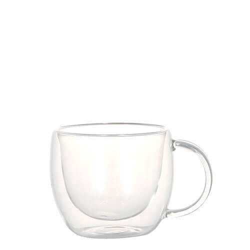 DOUBLE WALL GLASS CUP CAPPUCCINO