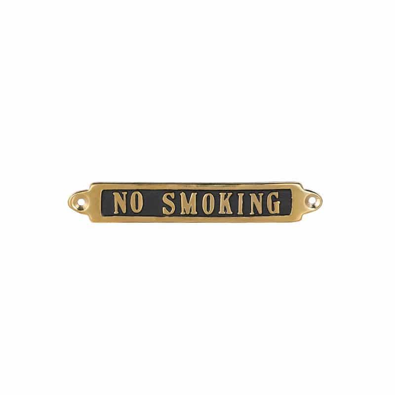 """BRASS SIGN  """"NO SMOKING"""""""