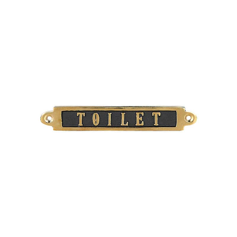 "BRASS SIGN  ""TOILET"""