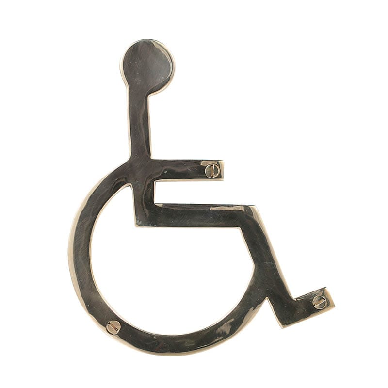 "BRASS SIGN ""WHEELCHAIR"""