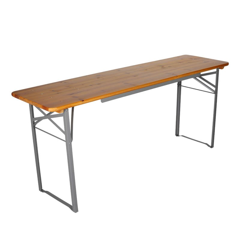 BEER TABLE 180 SILVER