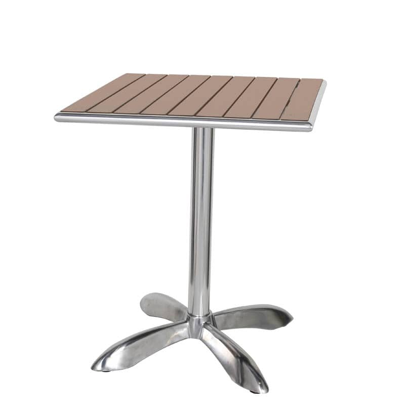 ALUMINUM CAFE TABLE SQ LBR