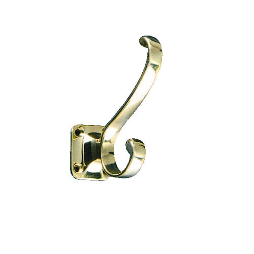 WALL HOOK-2 BRASS