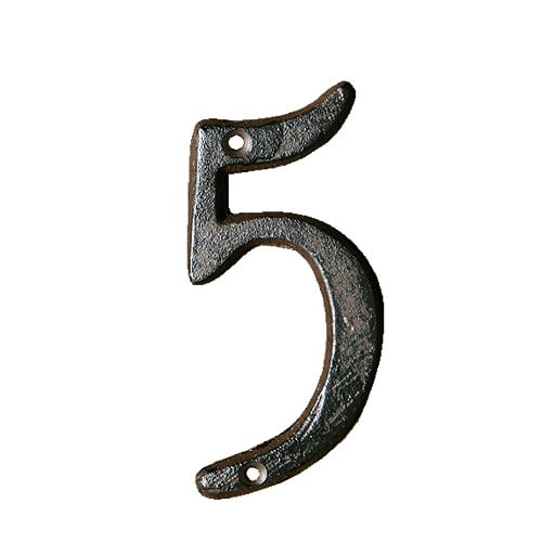 IRON NUMBER 5  RUSTED