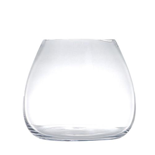GLASS VASE PLUMP L