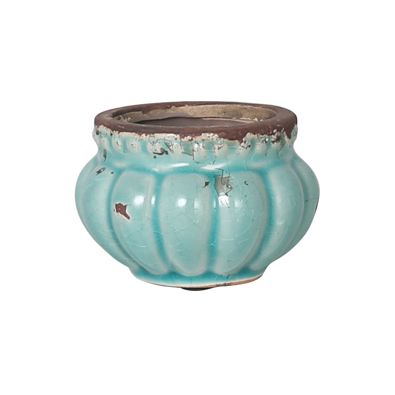 PLUMPLY POT ''FRESQUE BLUE''