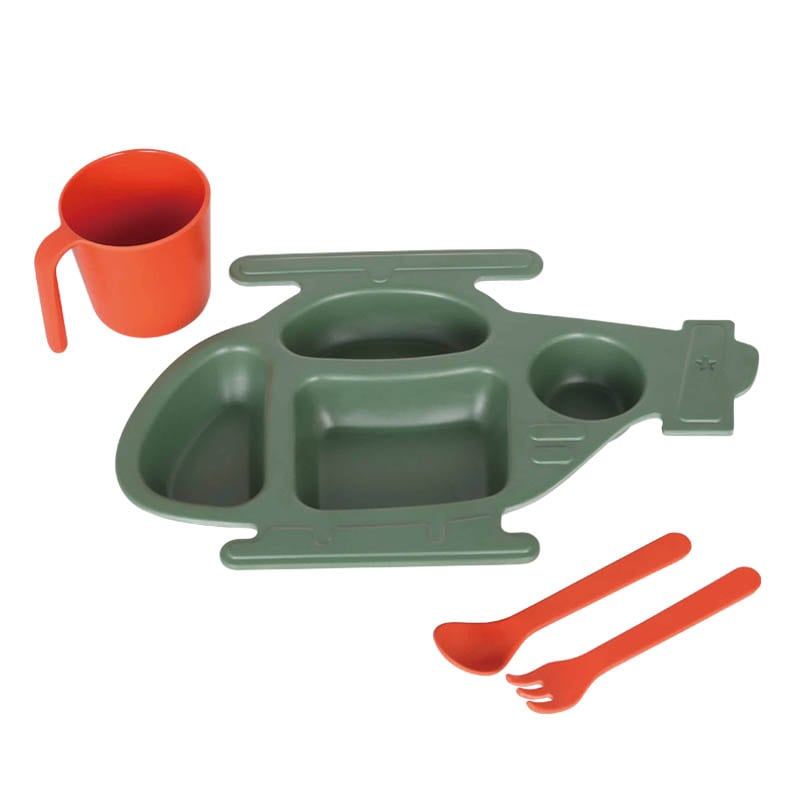 M&B KIDS PLATE SET''HELICOPTER''