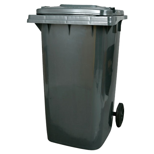 PLASTIC TRASH CAN 240L GRAY