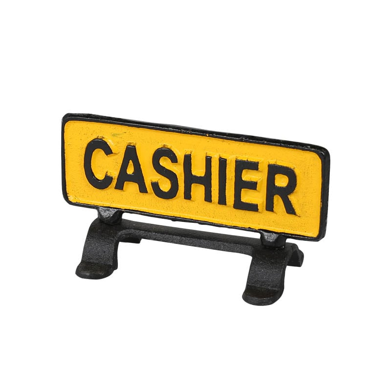 """RIVERSIBLE SIGN STAND """"CASHIER"""""""