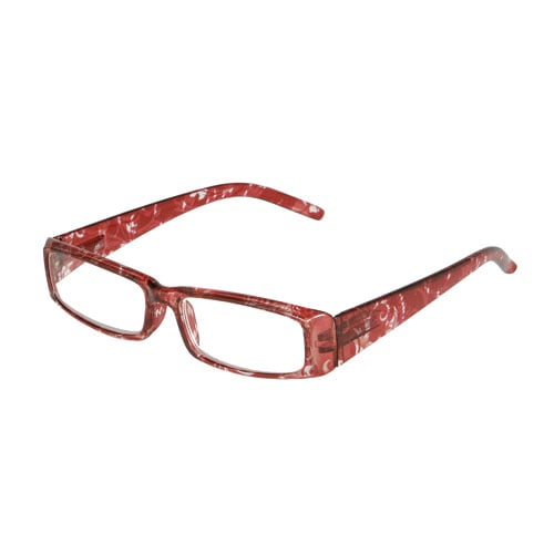 READING GLASSES RED PATTERN 3.0