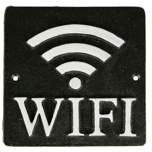 "SQUARE SIGN ""WI-FI"" A.BLACK"