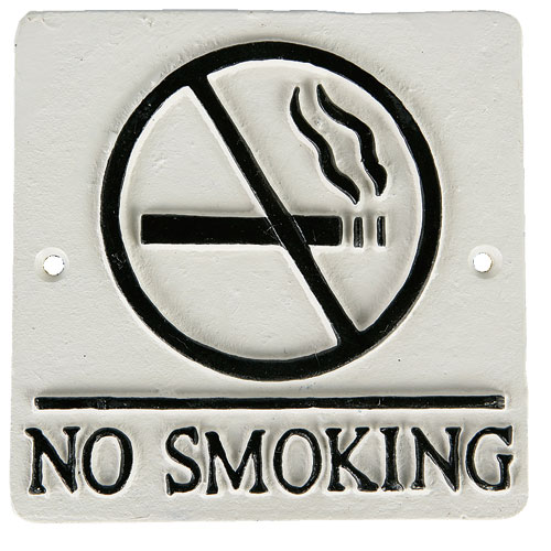 "SQUARE SIGN ""NO SMOKING"" C.IVORY"