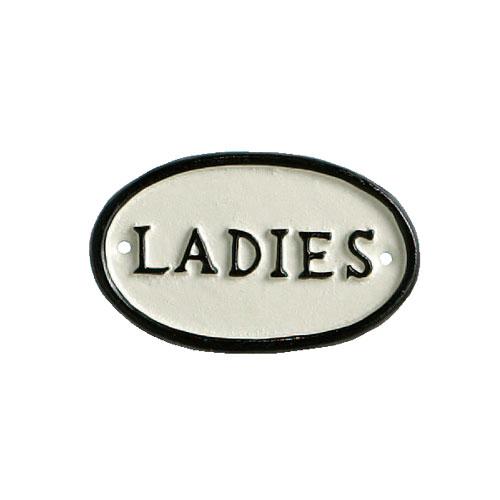 "OVAL SIGN ""LADIES"""