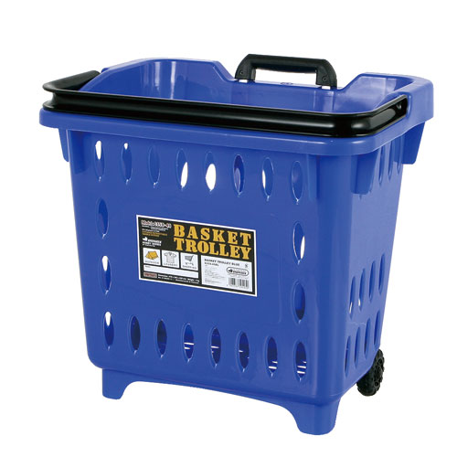 BASKET TROLLEY  BLUE
