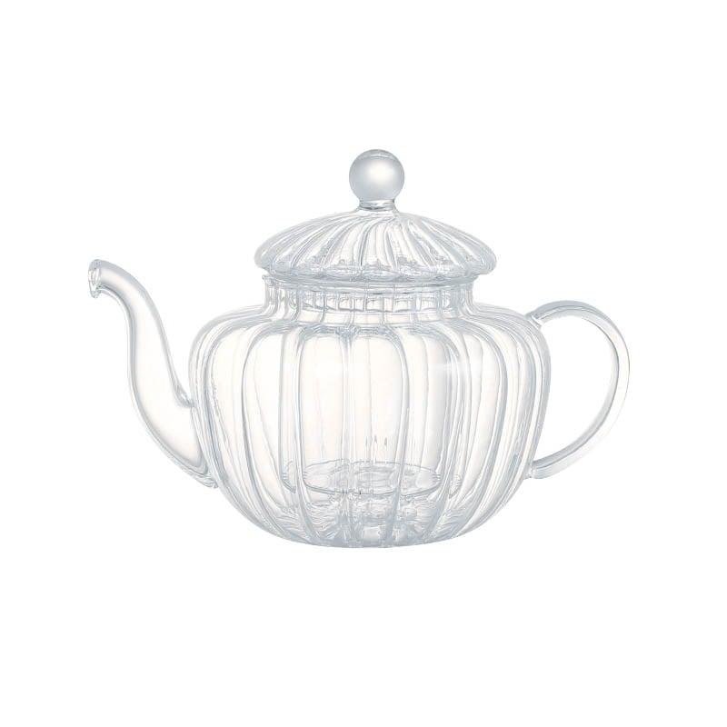 GLASS TEA POT PUMPKIN