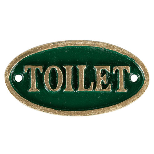 "OVAL SIGN GN ""TOILET"""