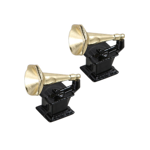 PHONOGRAPH MAGNET SET OF 2