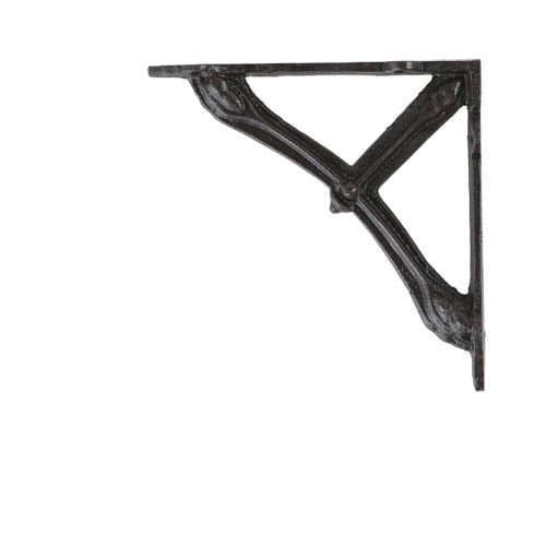BOW BRACKET 14 ANTIQUE BLACK