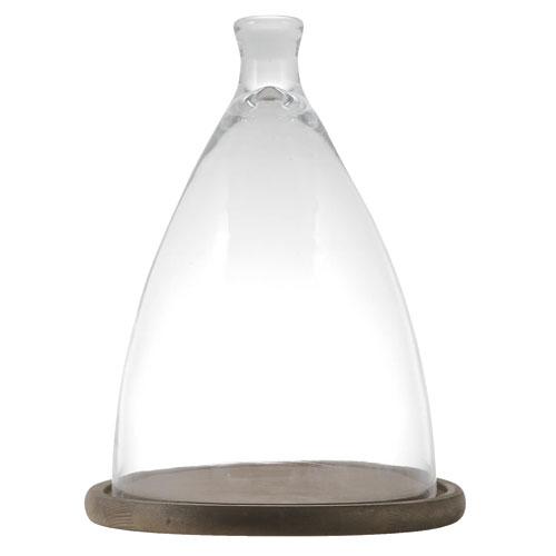GLASS CLOCHE L