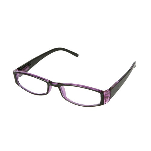 READING GLASSES  BK/PURPLE 3.0