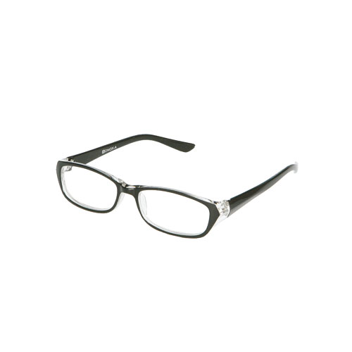 READING GLASSES  BK/CLEAR 2.5