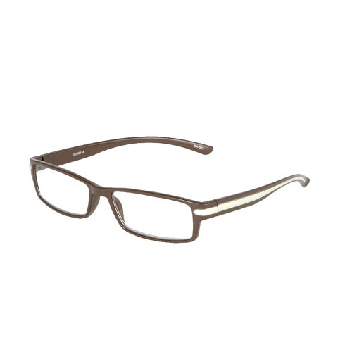 READING GLASSES BROWN 2.5