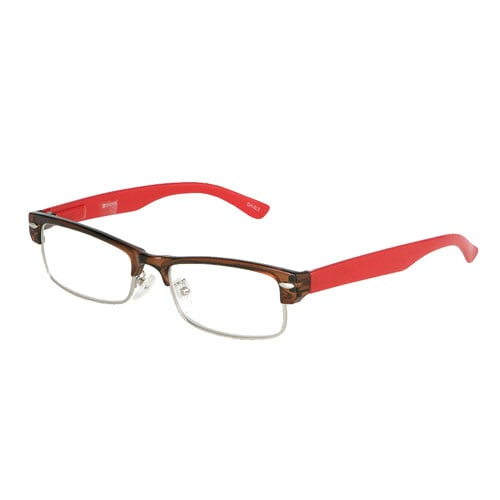 READING GLASSES BROWN/RED