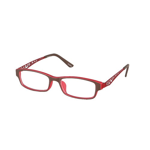 READING GLASSES BROWN/RED 2.0