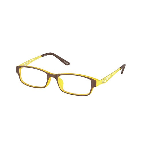 READING GLASSES BROWN/YELLOW